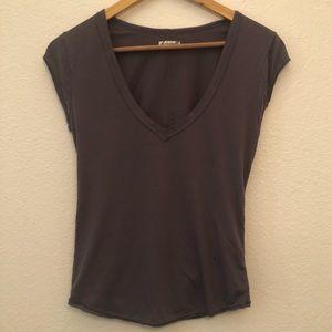 Free People Basic Vneck Tshirt sz XS